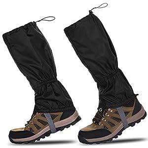 51UsiBFG3xL. SS300  - HenMerry 1 Pair Black Outdoor Hiking Walking Climbing Snow Legging Waterproof Gaiters