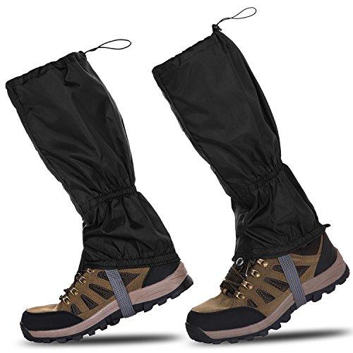 51UsiBFG3xL. SS500  - HenMerry 1 Pair Black Outdoor Hiking Walking Climbing Snow Legging Waterproof Gaiters