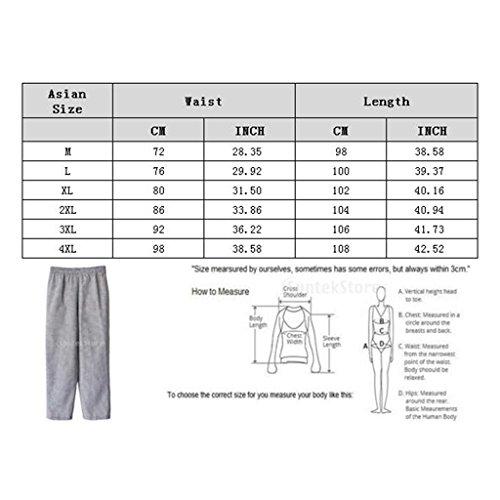 MagiDeal Chef Koch Hosen Elastischer Bund gestreift Arbeitskleidung 3 Muster Größen: M, L, XL,2XL,3XL,4XL - Stil 2, M - 5