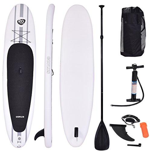 COSTWAY Sup-Board Paddelboard Surfboard Paddelbrett Stand Up Board Set 335 x 76 x 15cm aufblasbar inkl. Sicherungsleine