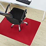 etm Office Chair Mat - Red - Multipurpose Floor Protection - 75x120cm (2.5'x4')