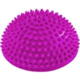 Semisfera riccio Balance »Igel« per migliorare l'equilibrio / la coordinazione. Ideale per l'allenamento della coordinazione, 320 g, circa 8 cm d'altezza e un diametro di 16 cm magenta