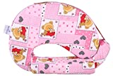 MomToBe Pink Bear Feeding Pillow with fr...