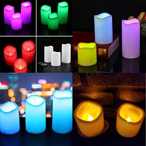 Candele LED colorate con vasetto decorativo