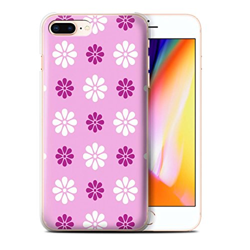 Stuff4 Hülle / Case für Apple iPhone 8 Plus / Multipack / Muster mit Blütenblättern Kollektion Rosa