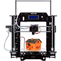 HICTOP Upgraded 24V 3D Printer Kit Neue Prusa I3 Acryl Glühfaden-Überwachungs-Maschine [3DD-18] (Schwarz)