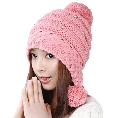 chapeau laine coréen/ chapeau chaud féminin/Boule mignon de femmes/Casque/Bonnet tricoté C