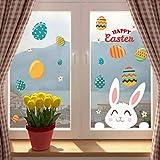 Gaddrt Happy Easter Wall Sticker Pvc Self-Adhesive Wall Sticker Can Be Removed Stile Fumetto Soggetto Plane Wall Sticker Per Parete,Per Piastrelle
