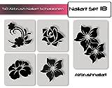 Airbrush-Schablonen- Nagellack Schablonen für aufregende Airbrush Nailart selbstklebend im Set