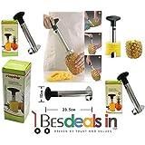 All In One Stainless Steel Pineapple Peeler Pine Apple Slicer Kitchen Easy Gadget Slicer Cutter Fruit Peeler-1Pc