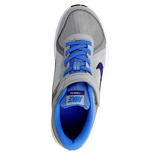 Nike Jungen Kids Fusion X 2 (Psv) Laufschuhe Gris (Wolf Grey / Deep Royal Blue-White)