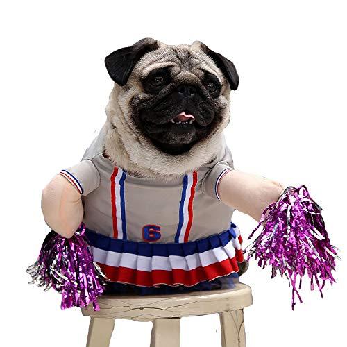 FLAdorepet Hund Cheerleader Kostüm Katze Halloween Party Kostüm Outfits für Chihuahua Bulldog