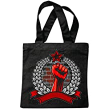 """sac à bandoulière """"REVOLUTION LIBERTY FREEDOM FIGHTERS FIST JUSTICE STREET FIGHT CLUB COMBAT MARTIAL PEOPLE PEOPLE PAIX LIBERTÉ"""" Sac école Turnbeutel en noir"""