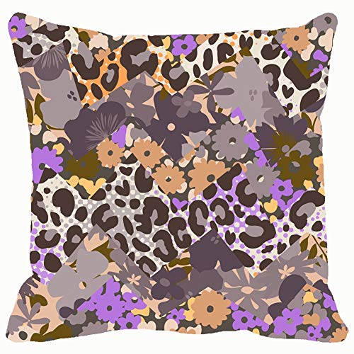 Flower Animal Mix Print Seamless Backgrounds Textures Animal Backgrounds Textures Beauty Fashion Animal Beauty Fashion Throw Pillows Covers Cushion Case Pillowcase Home Sofa Couch 18 x 18 Inches Pil - Spot-textur Wallpaper