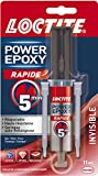 Loctite - 2297532 - Power Epoxy Rapid 5 min - Seringue de colle - Transparent - 11ml