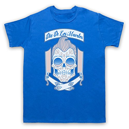 Dia De Los Muertos Mexican Day Of The Dead Herren T-Shirt Blau