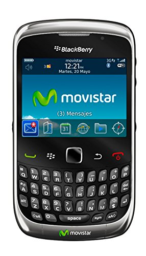 Blackberry Curve 3G 9300 QWERTY - Smartphone Movistar libre (cámara 3 MP, 256 MB de capacidad, procesador de 600 MHz),Graphite Gray, (importado)