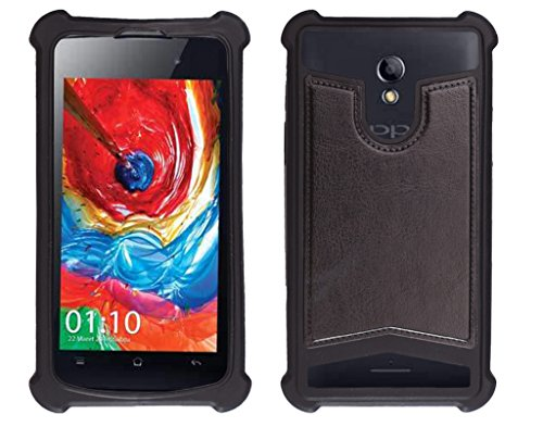 Shopme Shock proof,Silicon,Premium PU Leather Back cover for iBall Andi 4D (Black Color) (Special Anti Shock Bumpers on all four sides , 360 degress Protection, Access to all Ports)  available at amazon for Rs.199
