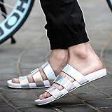 FYios Chaussures de Plage d'été, Sandales, Anti-Dérapante, Word Faites Glisser, extérieur, Chaussons Chaussons Humide Occasionnels,41,l'argent