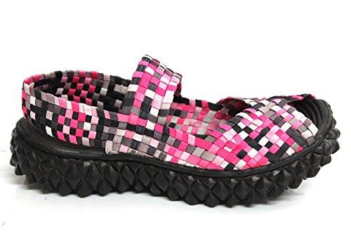 Adesso Wanda pour femme à talon léger Casual Chaussures Sandales Taille 3–8 Rose - rose