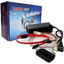 """Cable Adaptador IDE SATA 2.5"""" 3.5"""" a USB Disco Duro CD DVD Alimentacion AIS 2420"""