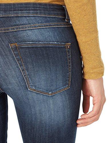 Skinny Fit Jeans im Used Look Dunkelblau
