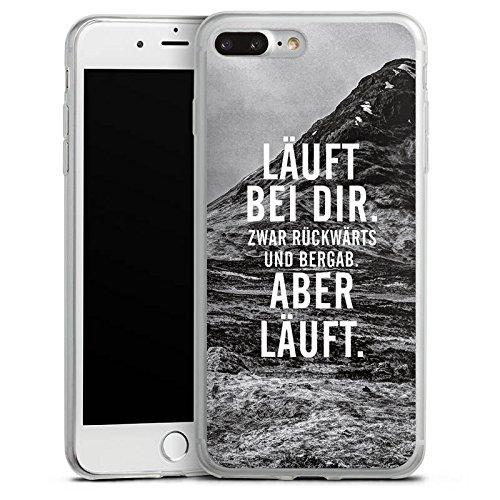 Apple iPhone 8 Plus Slim Case Silikon Hülle Schutzhülle Läuft Bei Dir Sprüche Statements Silikon Slim Case transparent