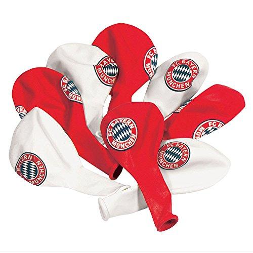 Preisvergleich Produktbild FC Bayern München Luftballons in rot und weiß 10 Stück