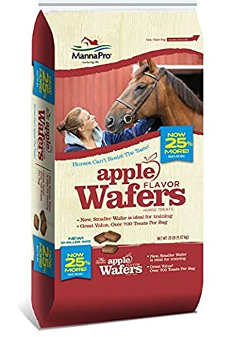 Manna Pro Apple Wafers Flavor Horse Treat Farming Care Equipment Food 20lbs