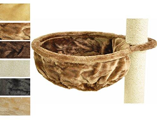 nanook Kratzbaum Liegemulde für kräftige Katzen - Größe XL - 40 cm Ø, Tiefe 12 cm - Hellbraun (Baum Monitor)