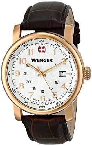 Wenger 011041109 - Reloj de pulsera hombre, piel, color marrón