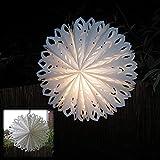Weihnachten Stern außen Faltstern Romantik Ø 60 cm beleuchtet E14 weiß von Gartenpirat®