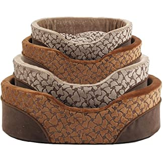Bunty Mocha Dog Bed Soft Washable Fleece Fur Cushion Warm Luxury Pet Basket - Brown - Small 7