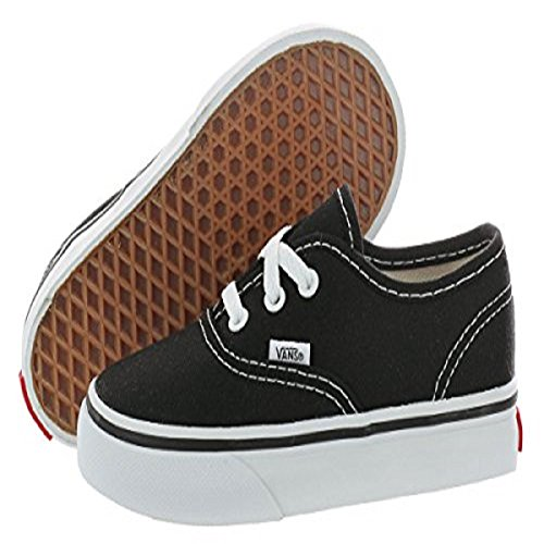 Vans Authentic, Unisex-kinder Sneakers, Schwarz (Black Blk), 21.5 Eu