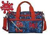 Sporttasche mit Namen | inkl. NAMENSDRUCK | Motiv Spiderman blau schwarz rot | Personalisieren &...