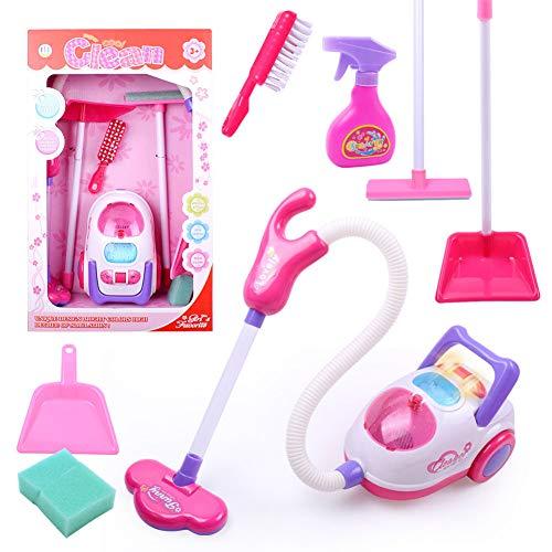 XuBa Reinigungswerkzeug Kinder Spielzeug Staubsauger Reinigungsset Spielhaus