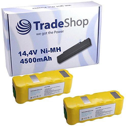 Preisvergleich Produktbild 2x Hochleistungs Ni-MH Akku, 14,4V / 4500mAh für infinuvo CleanMate Clean Mate QQ1 QQ2 365 QQ-1 QQ-2 Basic Green White Plus QQ-2L QQ2L QQ-2LT QQ2LT