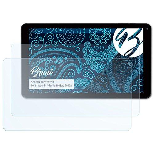 Bruni Schutzfolie kompatibel mit Blaupunkt Atlantis 1001A / 1010A Folie, glasklare Bildschirmschutzfolie (2X)