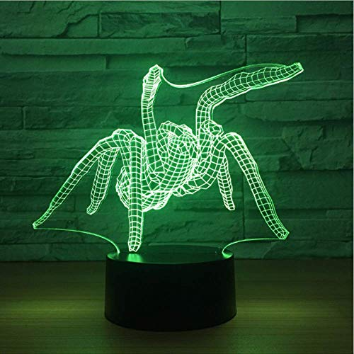 Nachtlicht New Spiders Acrylic Creative Usb 3D Night Light Christmas Decorations Gift For Baby Room Lights Valentine'S Day Gift