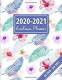 2020-2021 Academic Planner: Weekly & Monthly Schedule Organizer: July 2020 - June 2021, Simple At-A-Glance Calendar Planner, Academic Diary 2020-2021 (Floral & Leaf Design)