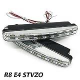 LED Tagfahrlicht ,12V 2 x Stück 8 LED Tagfahrlicht E4 R87 StvzO Tagfahrleuchten daylight …