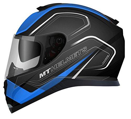 MT Casco Integrale, modello: Thunder 3 SV Trace, colore azzurro / rosso Opaco M Nero e blu