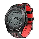 ZUIZU Bluetooth Smart Watch For Sports IP68 Waterproof Wrist Watches Altimeter Health Monitoring Step Counter, Sleep Monitor,Phone Call , red