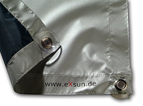 Sonnenschutz für Velux & Roto Dachfenster | Ohne Bohren mit Saugnäpfen *KraftHaftSauger Made in Germany!* | Hitzeschutz | Rollo | eXsun | Braas | Fakro | Verdunklungsrollo - Größe: Roto 6/11 = 43x96cm