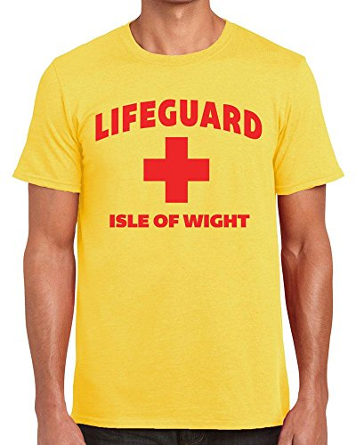 TeeDemon Lifeguard Isle of Wight - Funny - Mens Shirts - Men's Tshirt All Colours - Casual T-Shirt Gift