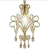 LCTCDD Gold-Kronleuchter, Leuchter-Deckenleuchter der Kerzen-Art K9, hängende Beleuchtung für Schlafzimmer-Wohnzimmer