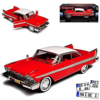 Greenlight Plymouth Fury Coupe Rot Christine Stephen King 1956-1958 1/24 Modell Auto