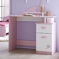 Schreibtisch rosa/weiß Holz Mädchen Computertisch Kinderschreibtisch Jugendschreibtisch Bürotisch Kinderzimmer Jugendzimmer preisvergleich bei kinderzimmerdekopreise.eu