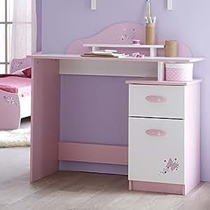 Schreibtisch rosa wei holz m dchen computertisch for Jugendzimmer amazon