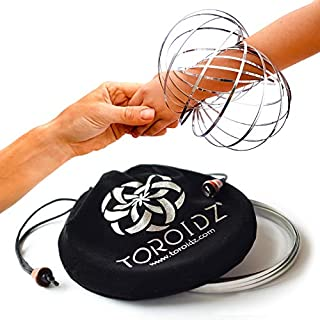 TOROIDZ ® w/ Official Velvet Travel Bag - Amazing Magic Flow Toy - Interactive Museum - 3D ARM RING - Science, Circus , Festival, Physics stuff - All Ages Gift